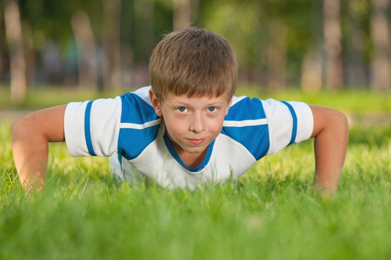 Are push-ups bad for a 10-year-old boy