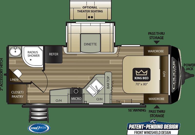 2020 Cougar 22RBS floor