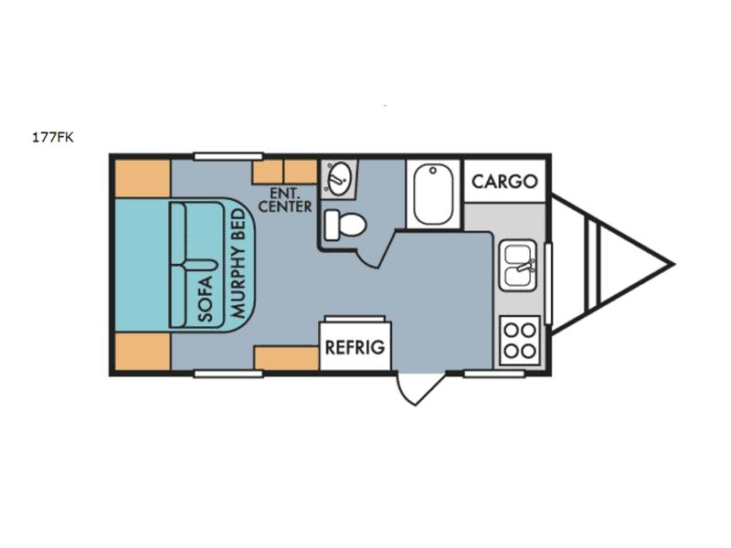 177FK Retro with Murphy Bed floor plan