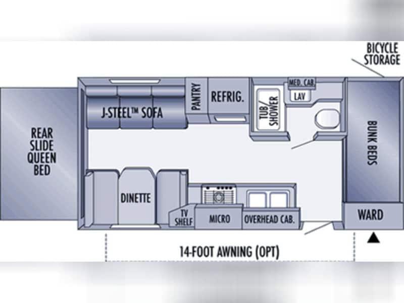 2006 JAYCO JAY FEATHER 213 floor plan