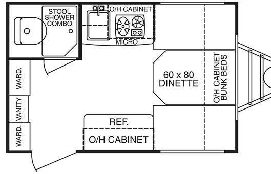 2007 Cruiser Fun Finder X 139 floor plan