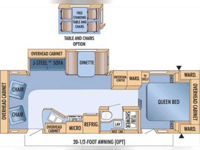 2009 JAYCO EAGLE 298RLS floor plan