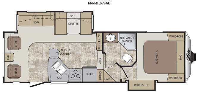 2012 Keystone Cougar XLite 26SAB floor plan