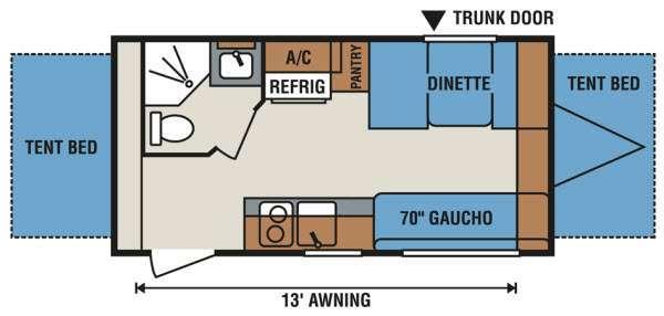 2013 Sportsmen Classic 18RBT floor plan