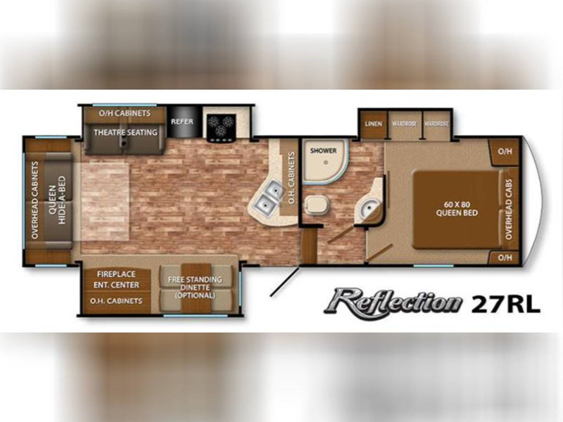 2015 Grand Design Reflection 27RL floor plan