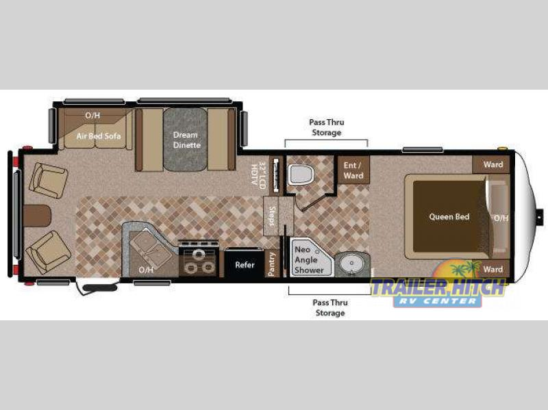2015 Keystone Sprinter 252FWRLS floor plan