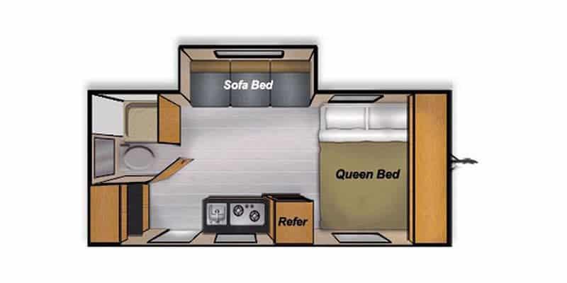 2016 Camp Lite 16DBS floor plan