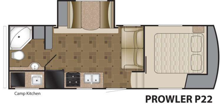 2016 Heartland Prowler P-22 floor plan