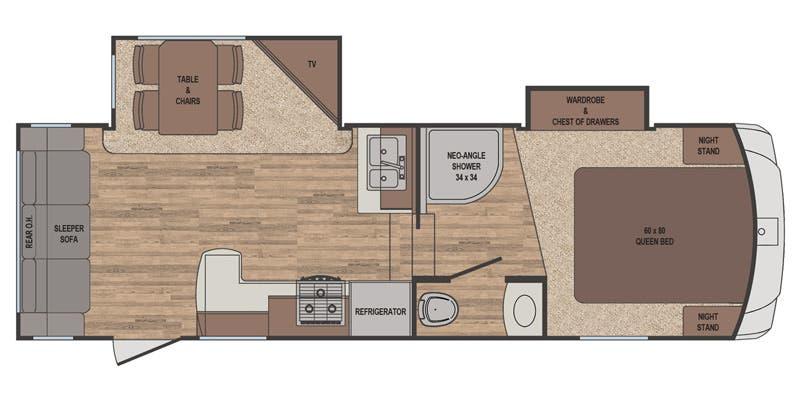 2016 Sabre Lite 25RL floor plan