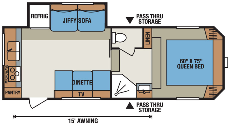 2016 Sportsmen S235RK floor plan