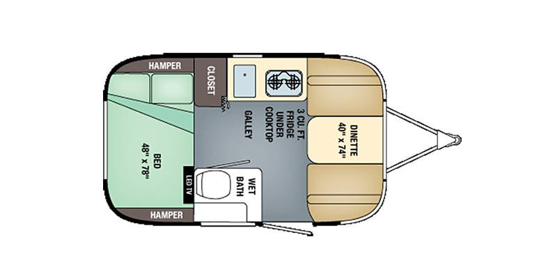 2017 Airstream Sport 16J Bambi floor