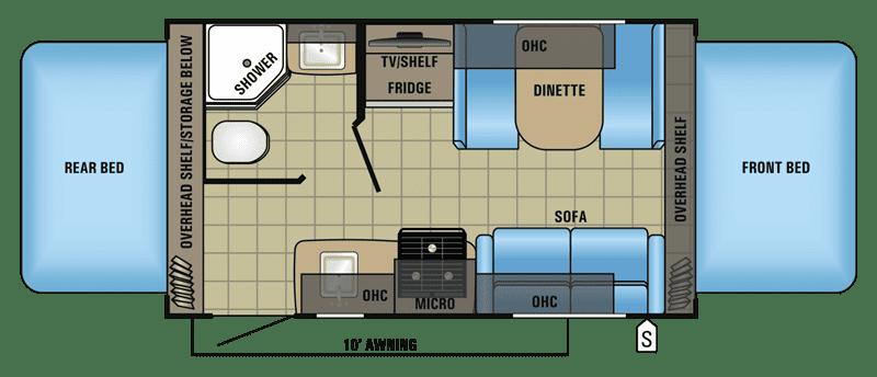 2017 Jayco Jay Feather X17Z floor plan