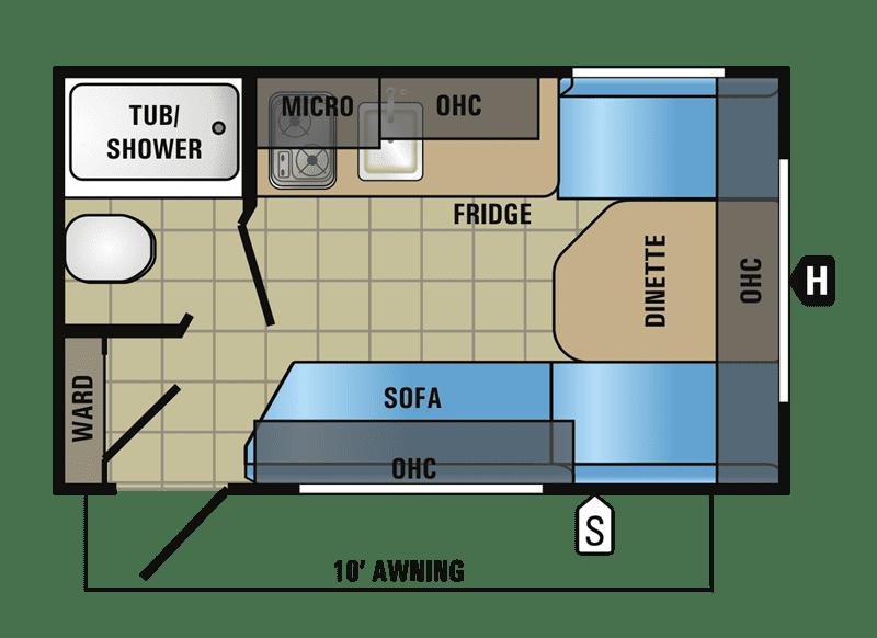 2017 Jayco Jay Flight SLX 145RB floor plan