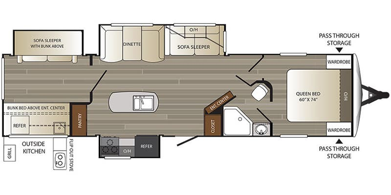 2017 Keystone Outback 325BH floor plan