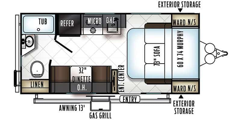 2017 Starcraft AR-One 14RB floor plan
