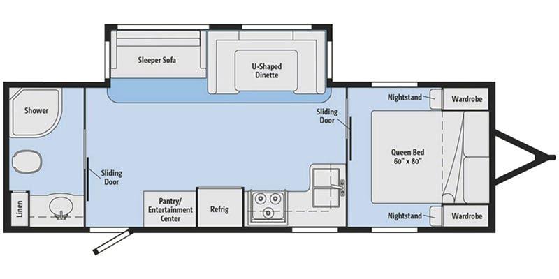 2017 Winnebago Minnie Plus 26RBSS floor plan
