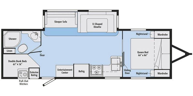 2017 Winnebago Minnie Plus 27BHS floor plan