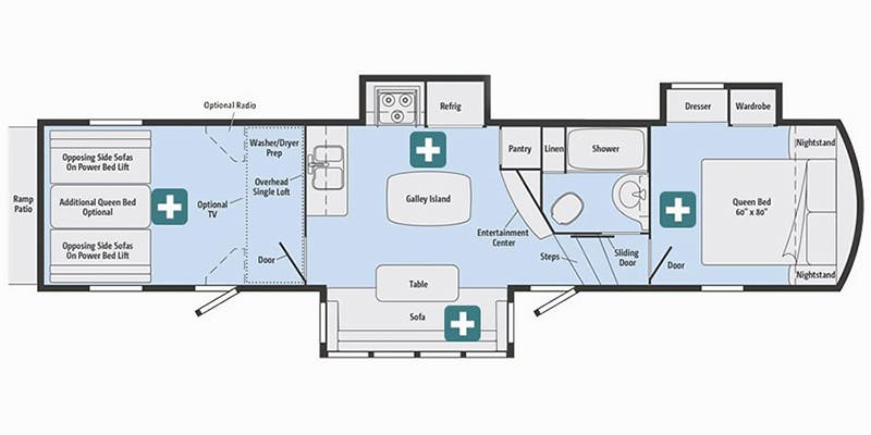 2017 Winnebago Scorpion 3480 floor plan