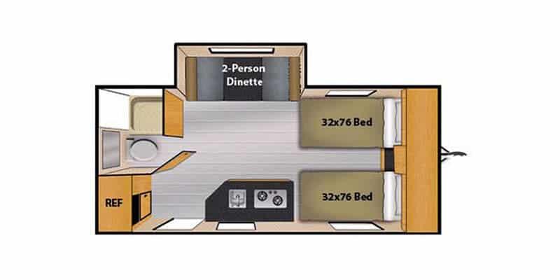 2018 Camp Lite 16TBS floor plan
