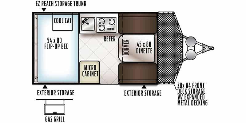 2018 Forest River Rockwood Hard Side 122BH floor plan