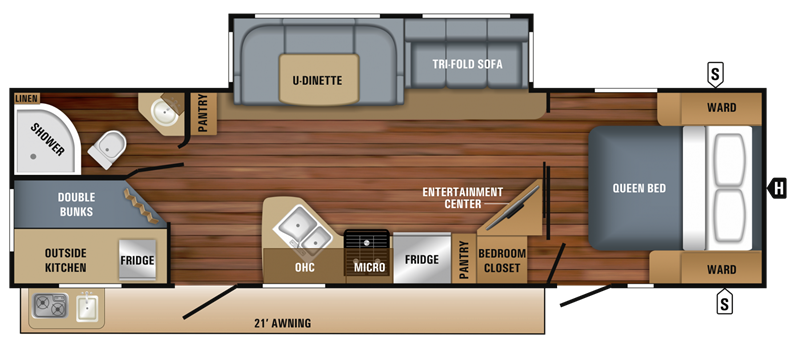 2018 Jayco 29BH floor plan