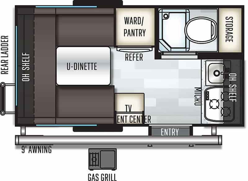 2018 Rockwood GEO PRO 14FK floor plan