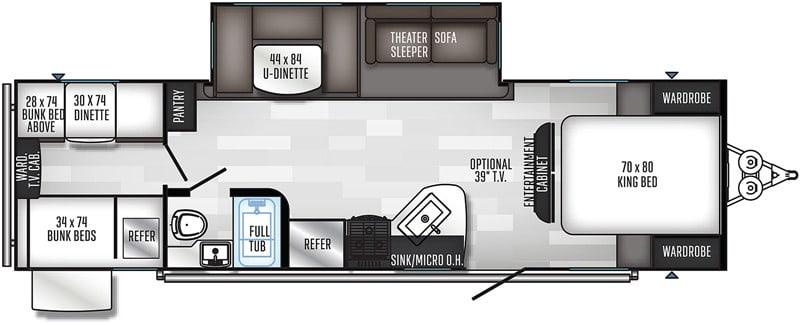 2018 Solaire 292QBSK floor plan