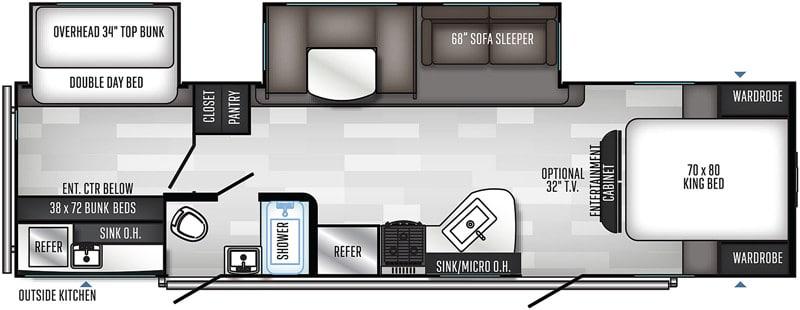 2018 Solaire 317BHSK floor plan