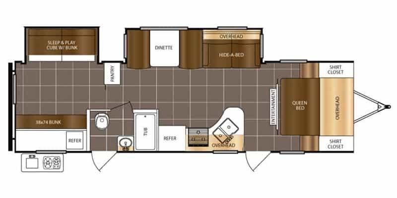 2018 Tracer 305AIR floor plan