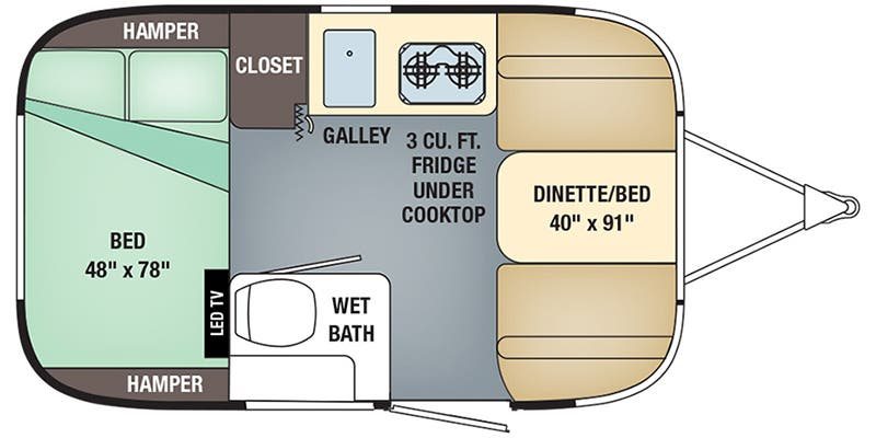 2019 Airstream Sport 16RB floor