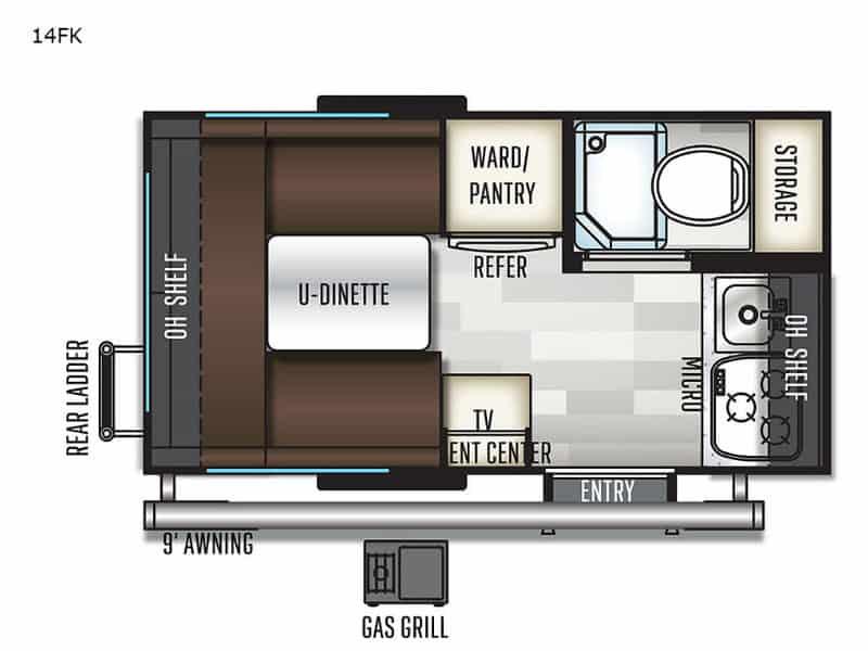 2019 Flagstaff E Pro 14FK floor