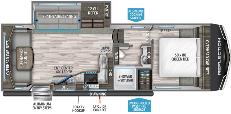 2019 Grand Design RV Reflection 150 Series 260RD floor plan