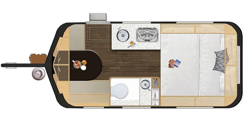 2019 Hymer Touring GT550 floor plan