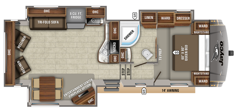 2019 Jayco Eagle 27.5 RLTS floor plan