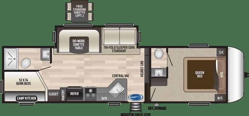 2019 Keystone 281DBS floor plan