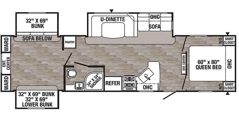 2019 Puma 31DBTS floor plan