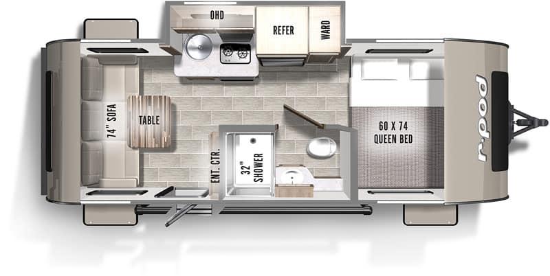 2019 R-Pod 189 floor plan