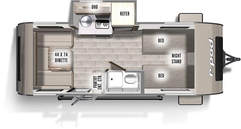 2019 R-pod 191 floor plan