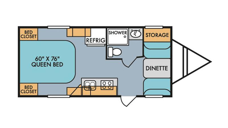 2019 RIVERSIDE RETRO 179SE floor plan