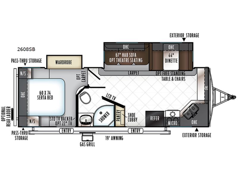 2019 ROCKWOOD 2608SB floor plan
