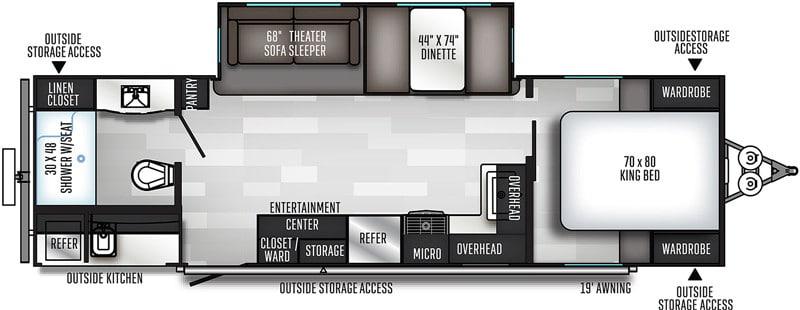 2019 Solaire 258RBSS floor plan