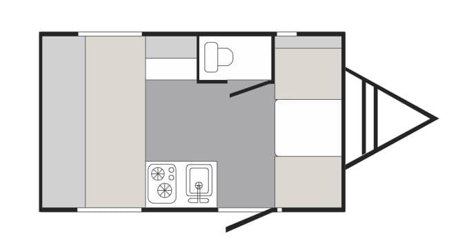 2019 SunRay 149 Classic floor plan