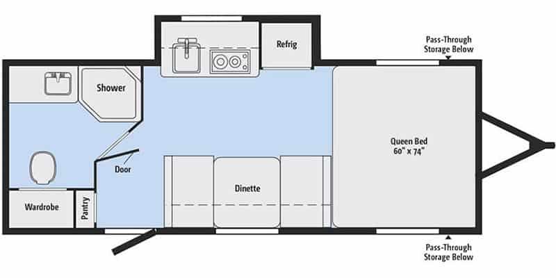 2019 Winnebago Minnie Drop 170S floor plan