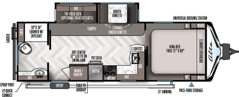 2020 Alta 2600KRB floor plan