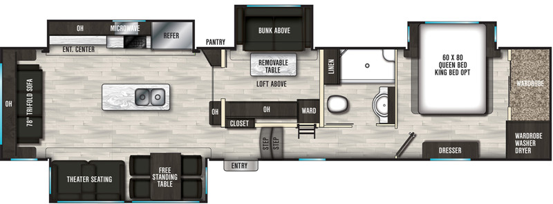 2020 Brookstone 398MBL floor plan