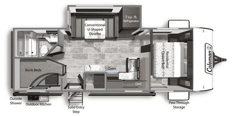 2020 Coleman Light 2455BH floor plan