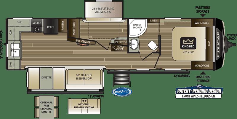 2020 Cougar 31MBS floor plan