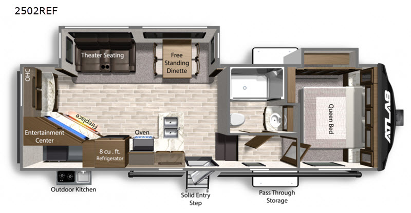2020 Dutchmen Atlas 2502REF floor plan