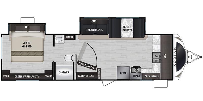 2020 Dutchmen RV Kodiak Ultimate 2921FKDS floor plan