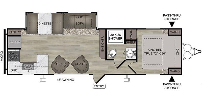 2020 East West Silver Lake 29KRK floor plan
